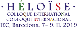 Colloque international-Col·loqui internacional, IEC, Barcelona 7-9/11/2019